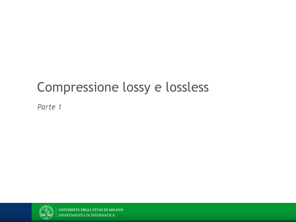Compressione lossy e lossless