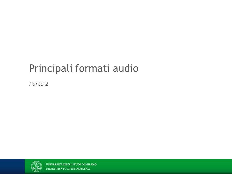 Principali formati audio