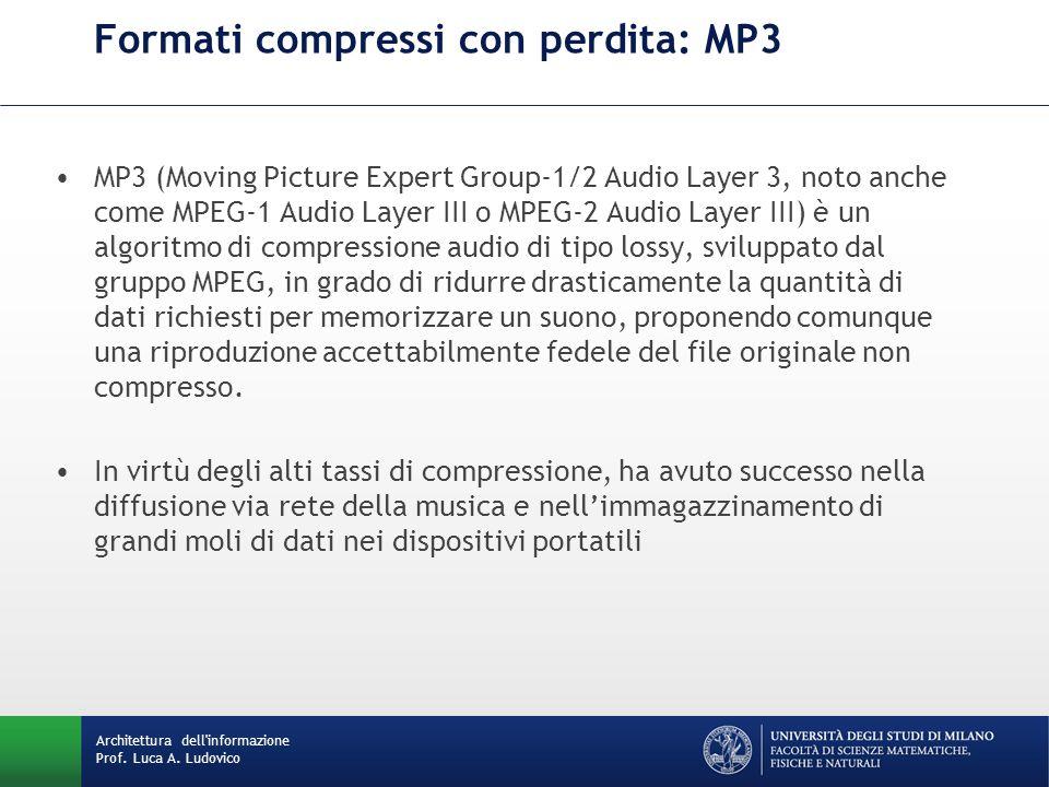 Formati compressi con perdita: MP3