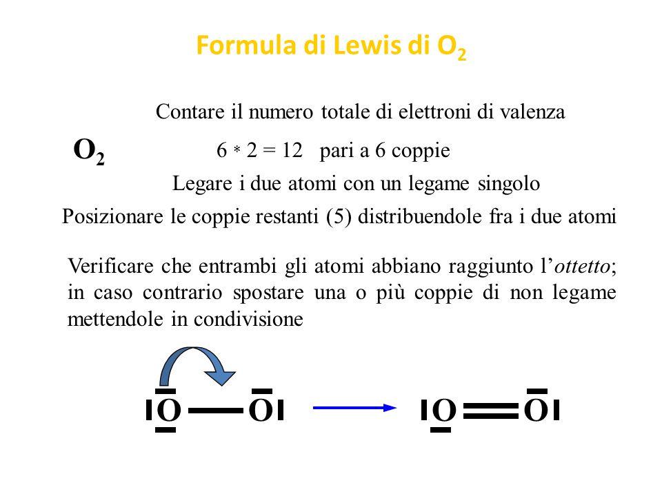 O O O O Formula di Lewis di O2 O2