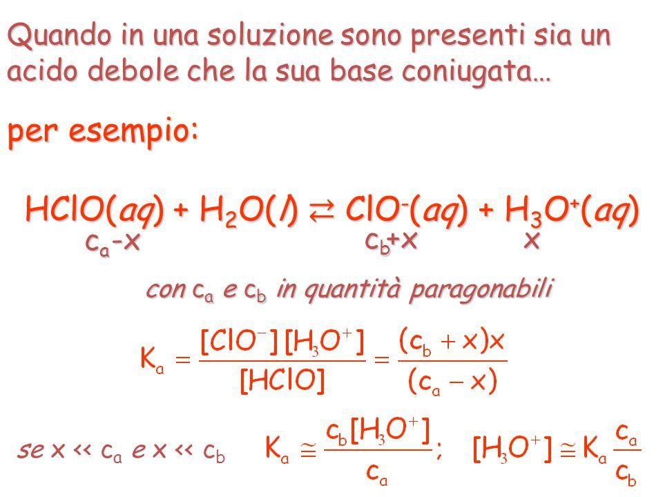 HClO(aq) + H2O(l) ⇄ ClO-(aq) + H3O+(aq)