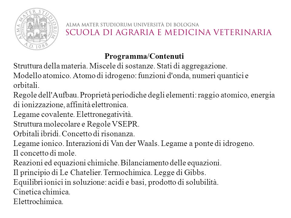 Programma/Contenuti