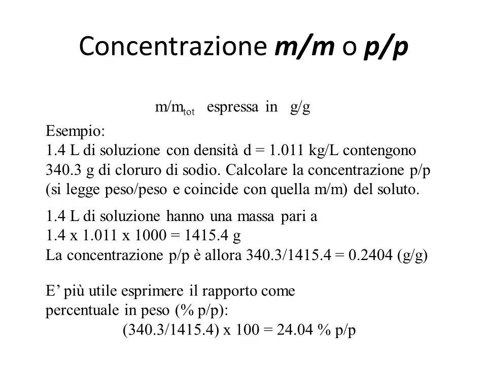 Concentrazione m/m o p/p
