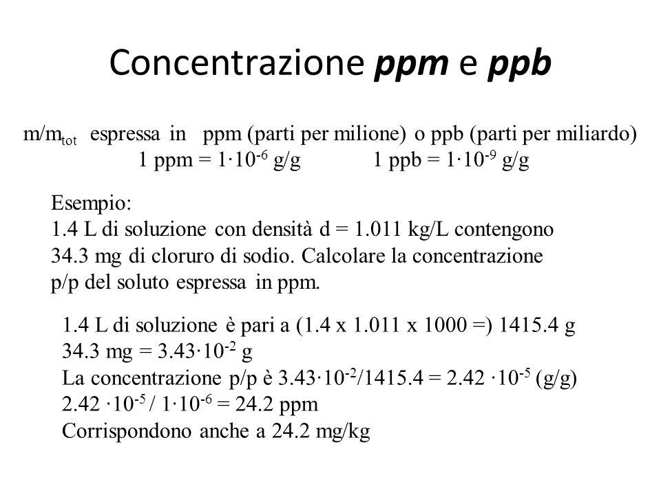Concentrazione ppm e ppb
