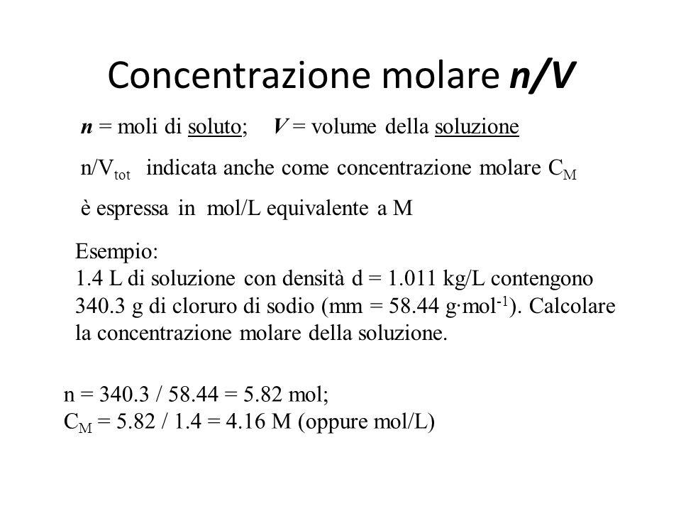 Concentrazione molare n/V