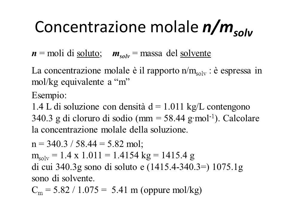 Concentrazione molale n/msolv