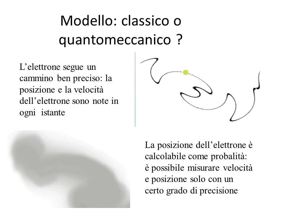 Modello: classico o quantomeccanico