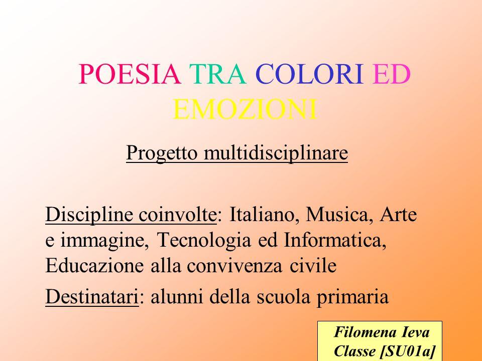 Favoloso POESIA TRA COLORI ED EMOZIONI - ppt video online scaricare LV09