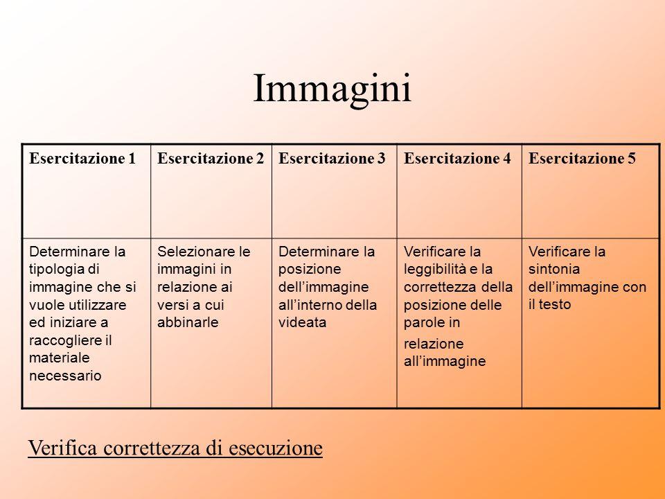 Immagini Verifica correttezza di esecuzione Esercitazione 1