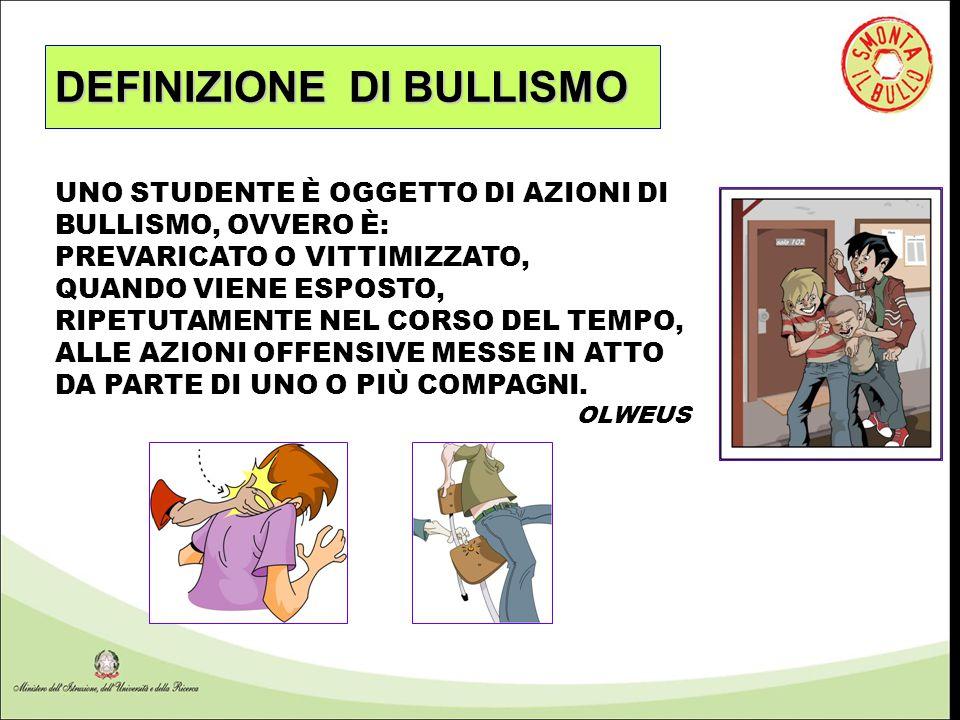 DEFINIZIONE DI BULLISMO