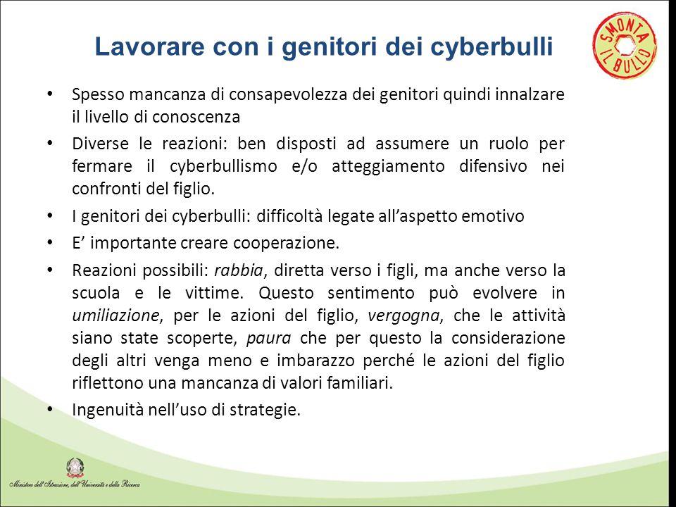 Lavorare con i genitori dei cyberbulli