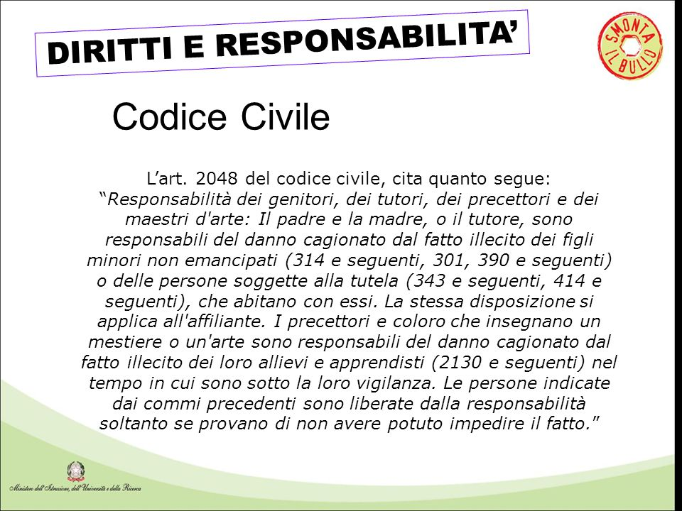 DIRITTI E RESPONSABILITA'