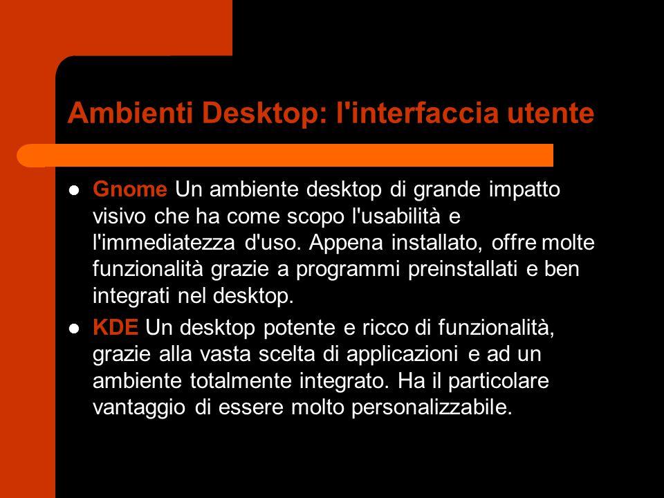 Ambienti Desktop: l interfaccia utente