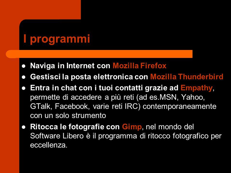 I programmi Naviga in Internet con Mozilla Firefox
