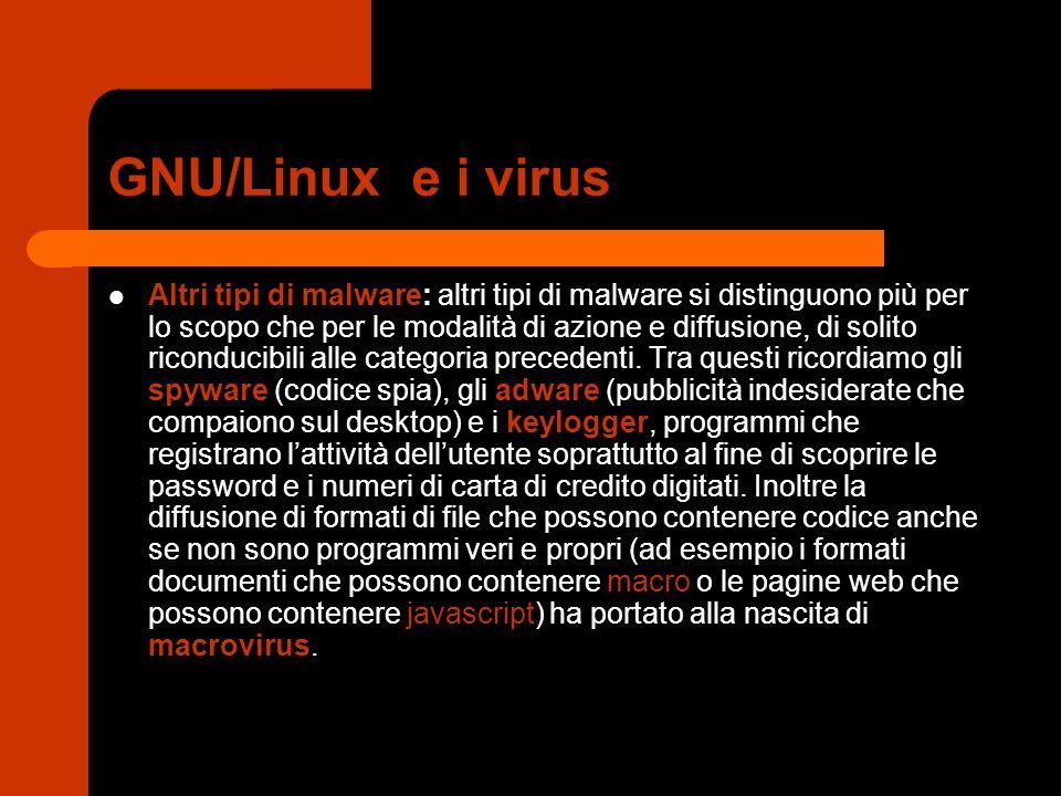 GNU/Linux e i virus