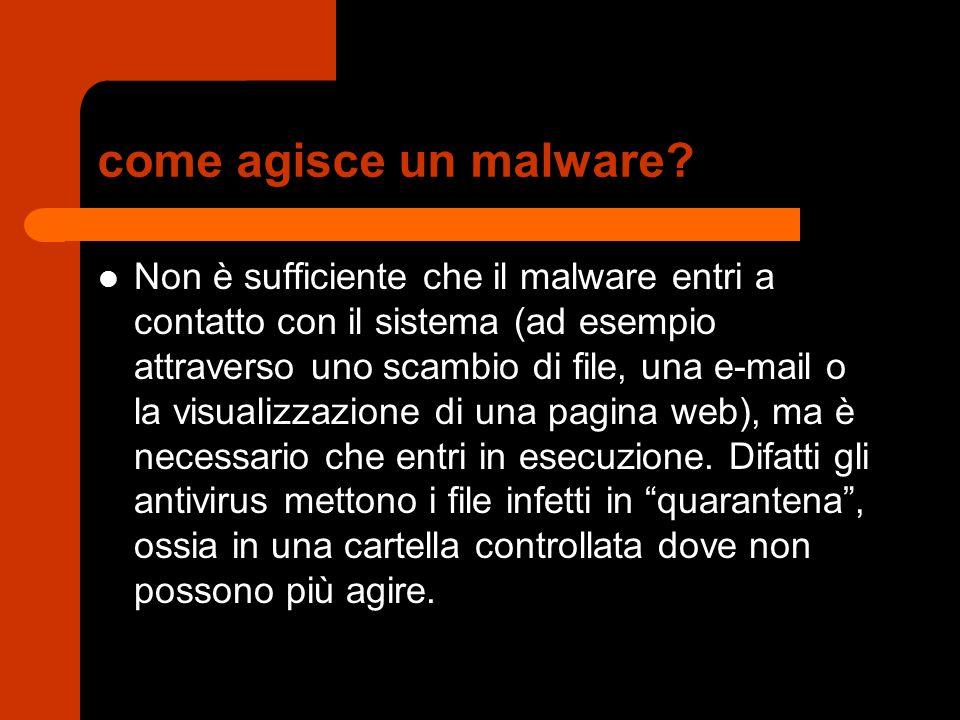 come agisce un malware