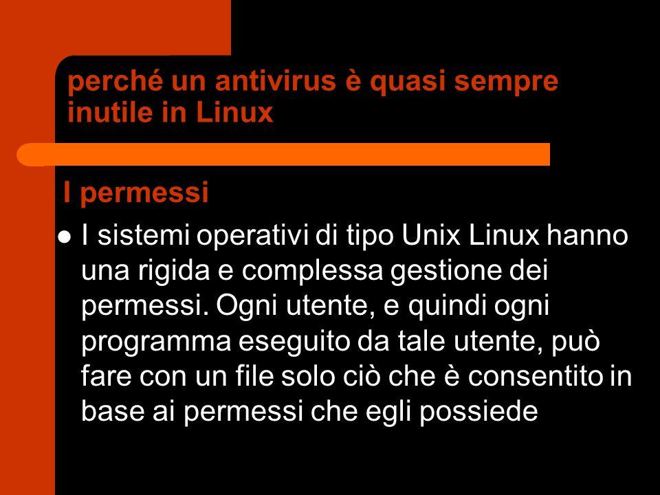 perché un antivirus è quasi sempre inutile in Linux