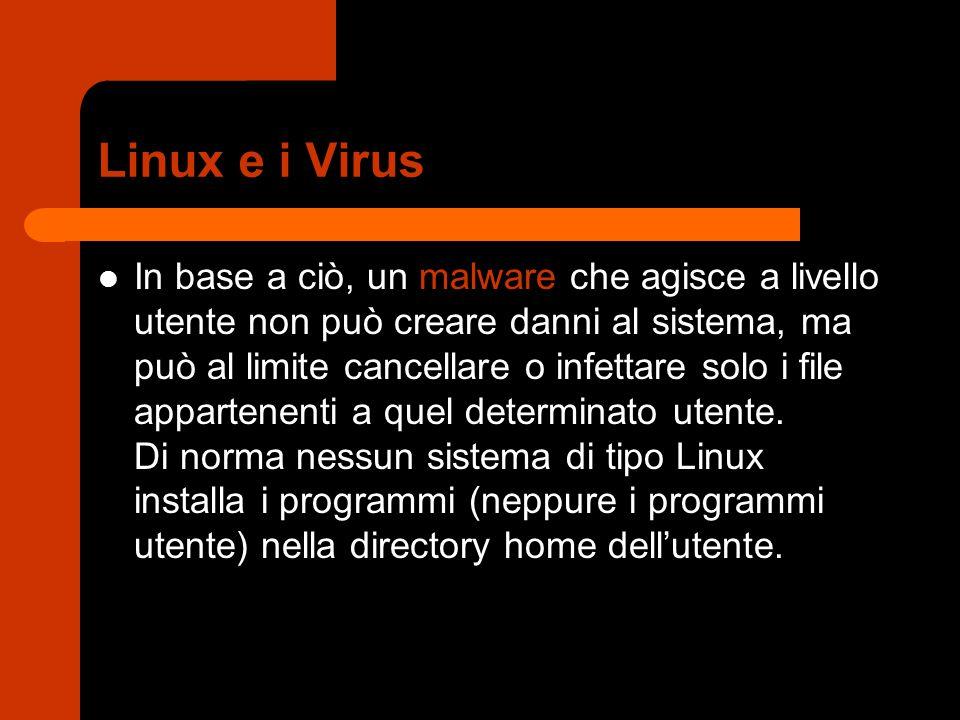 Linux e i Virus