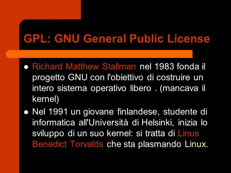 GPL: GNU General Public License