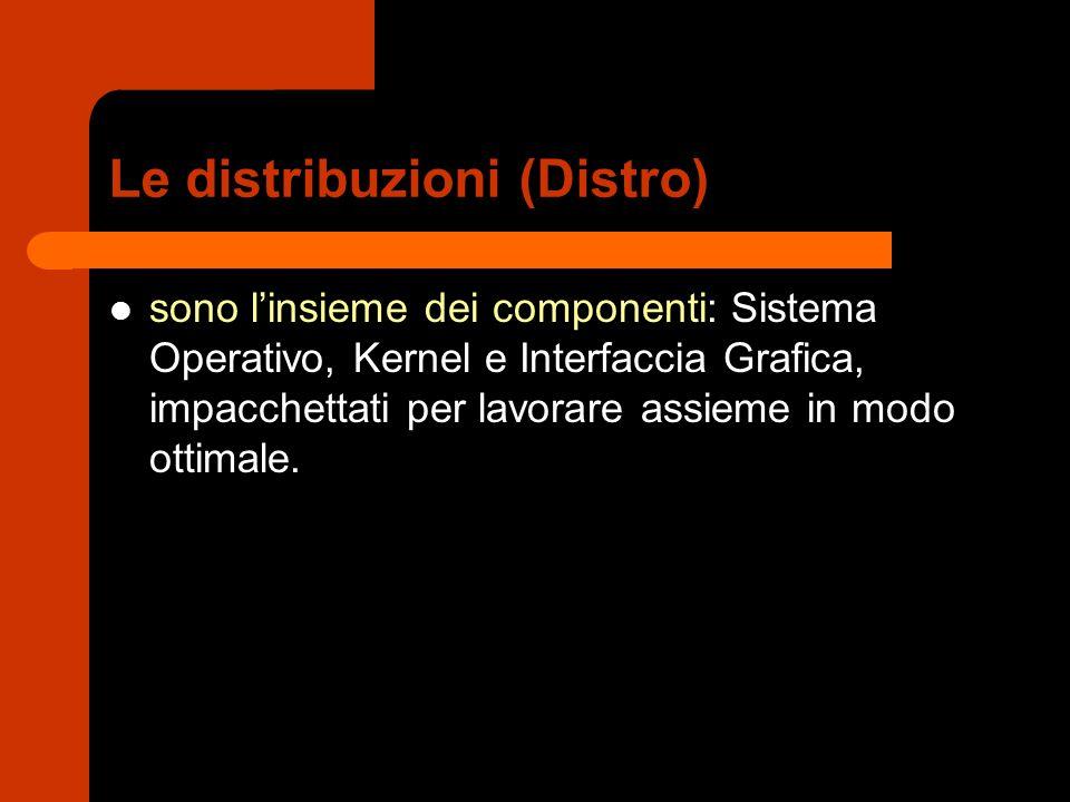 Le distribuzioni (Distro)