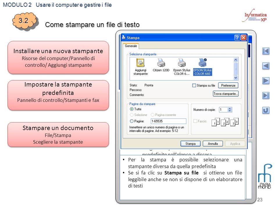 Come stampare un file di testo