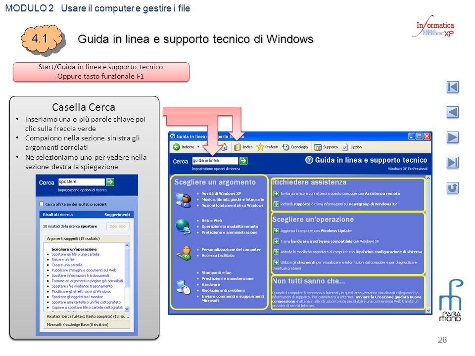 Guida in linea e supporto tecnico di Windows