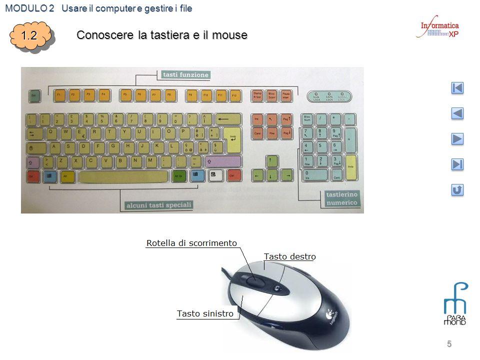 1.2 Conoscere la tastiera e il mouse