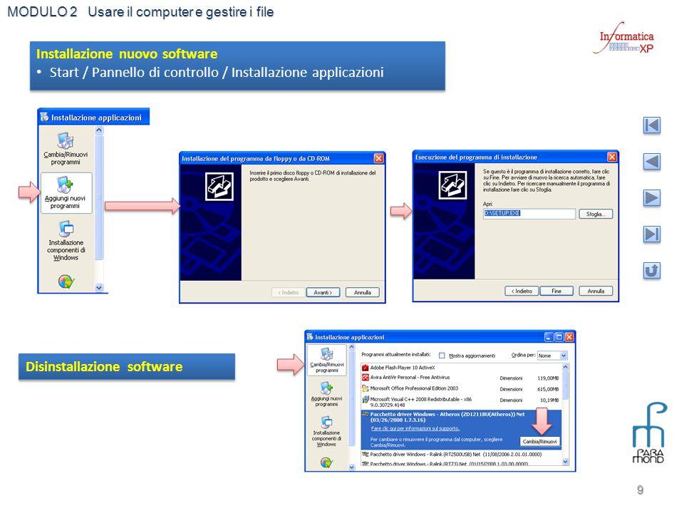 Installazione nuovo software