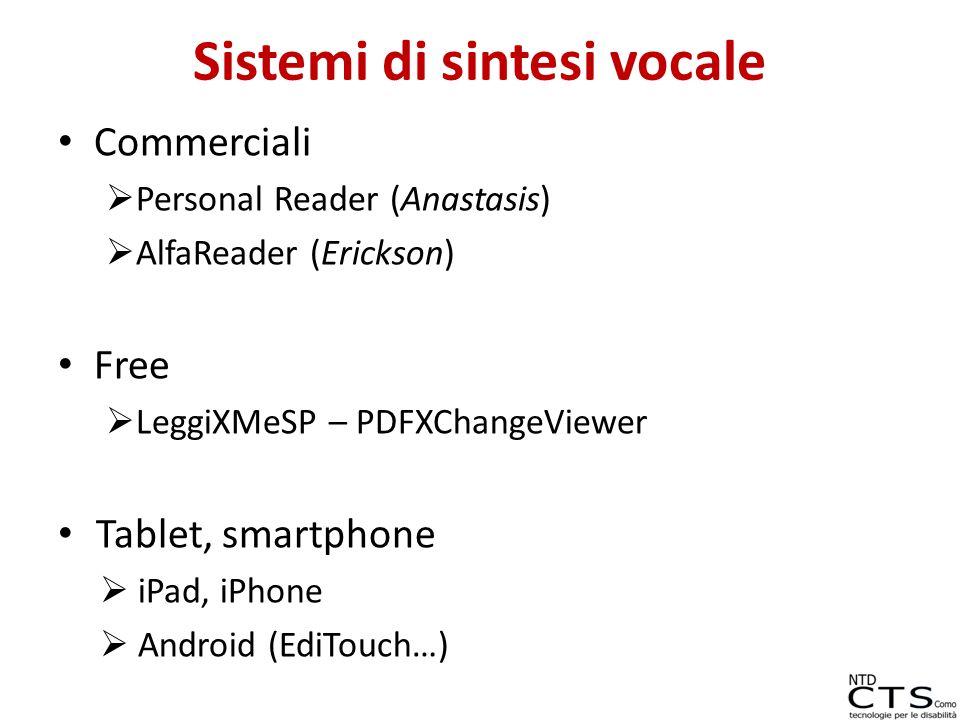 Sistemi di sintesi vocale