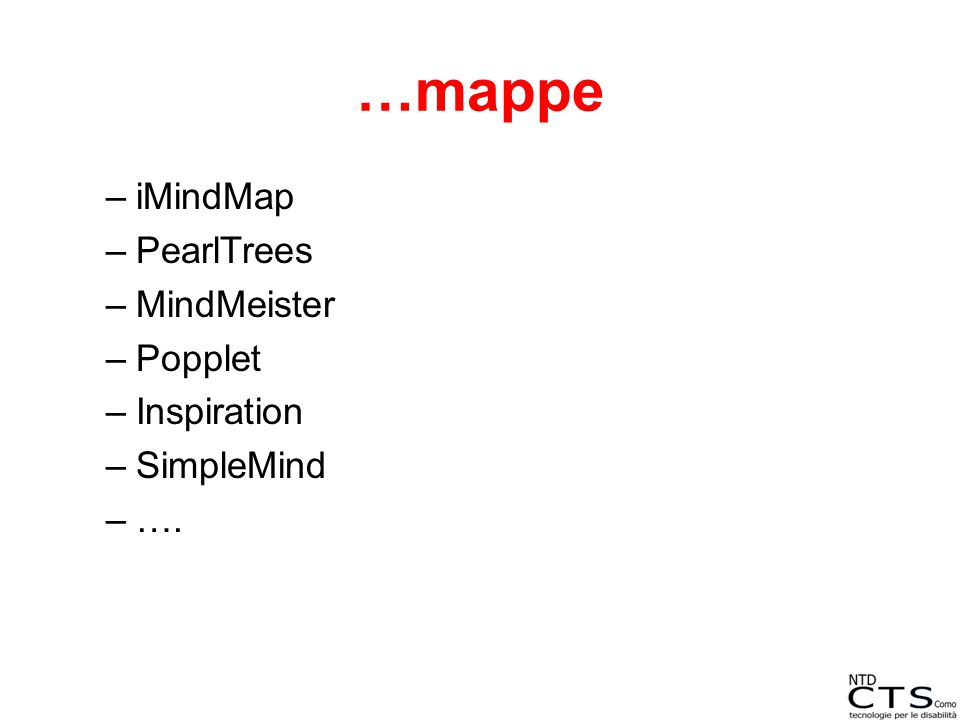 …mappe iMindMap PearlTrees MindMeister Popplet Inspiration SimpleMind