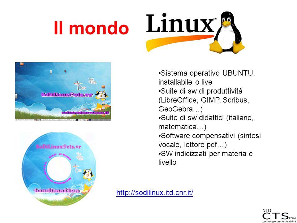 Il mondo Sistema operativo UBUNTU, installabile o live