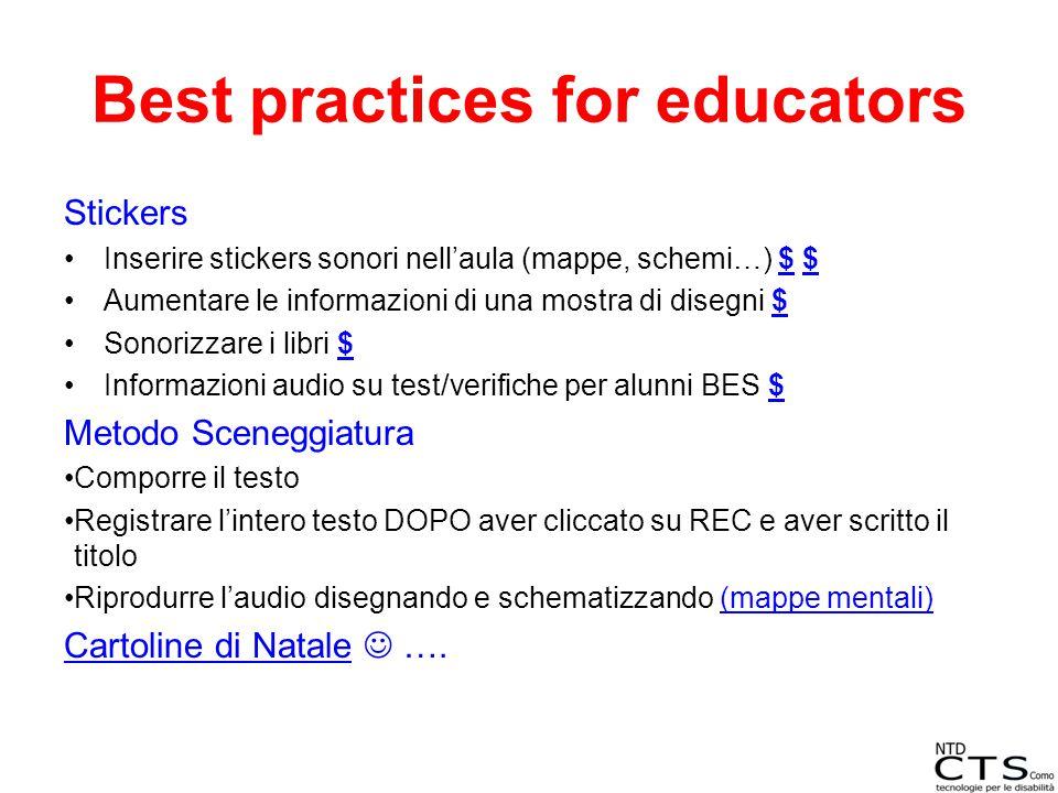 Best practices for educators