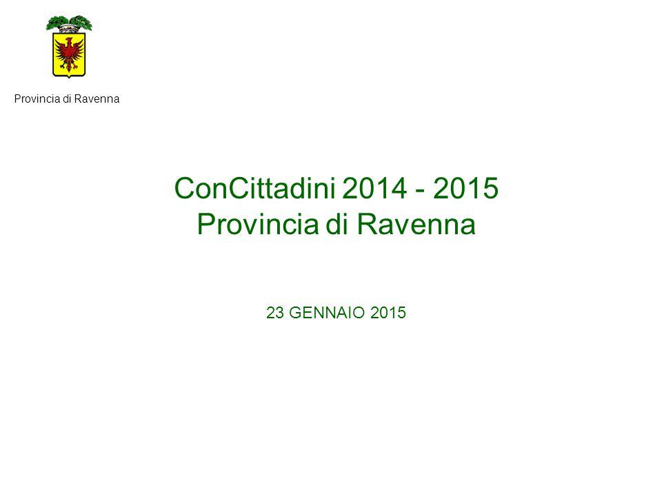 ConCittadini 2014 - 2015 Provincia di Ravenna 23 GENNAIO 2015