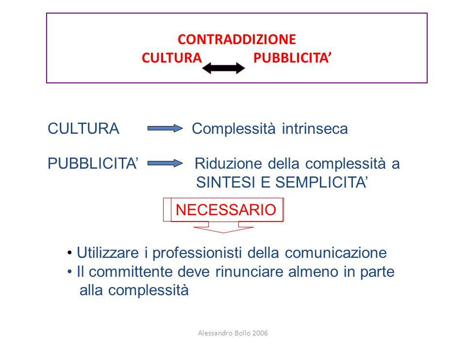 CONTRADDIZIONE CULTURA PUBBLICITA'