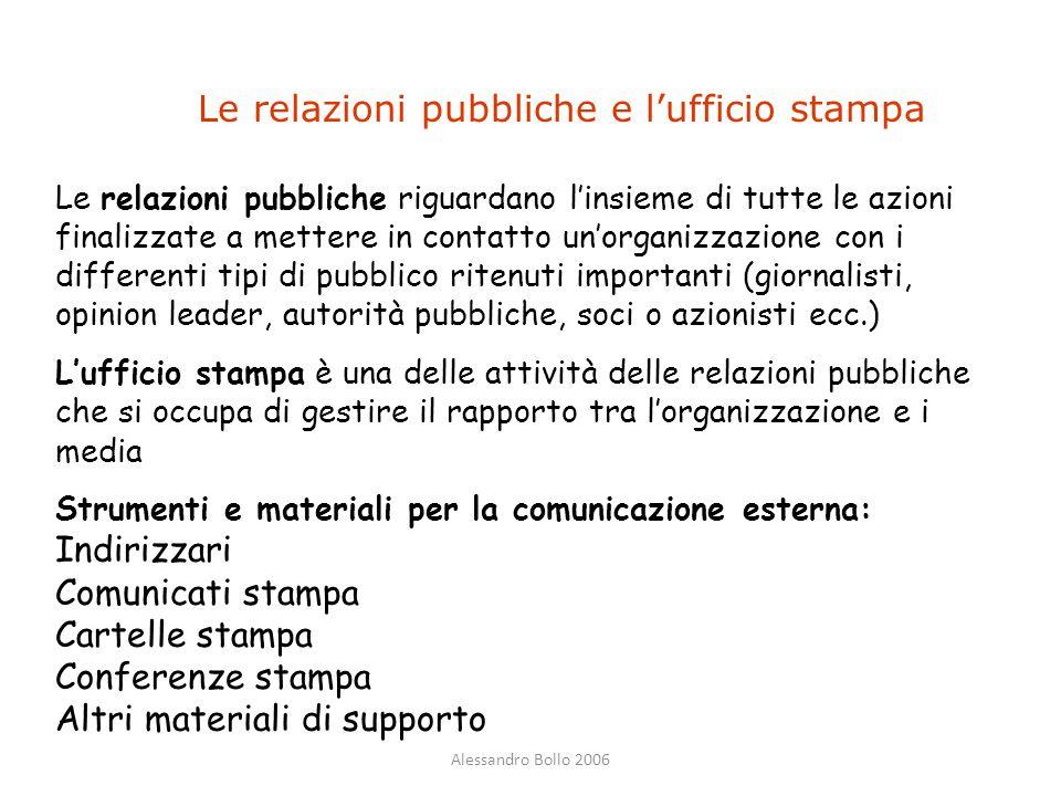 Le relazioni pubbliche e l'ufficio stampa