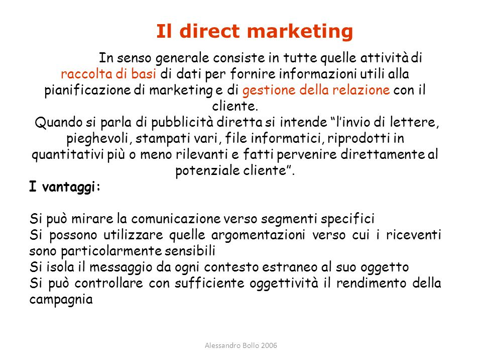 Il direct marketing