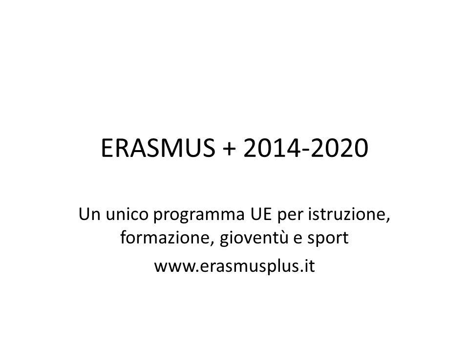 Un unico programma UE per istruzione, formazione, gioventù e sport