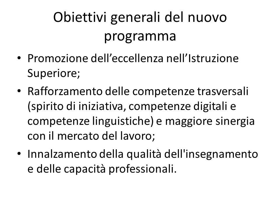 Obiettivi generali del nuovo programma