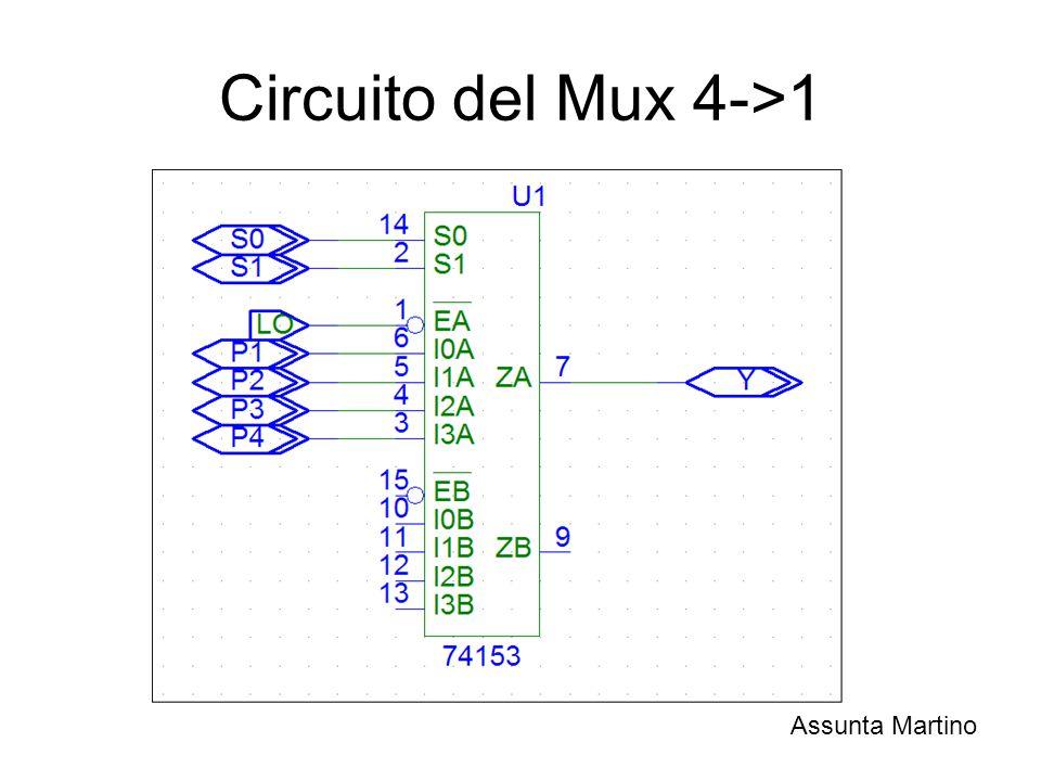 Circuito del Mux 4->1 Assunta Martino