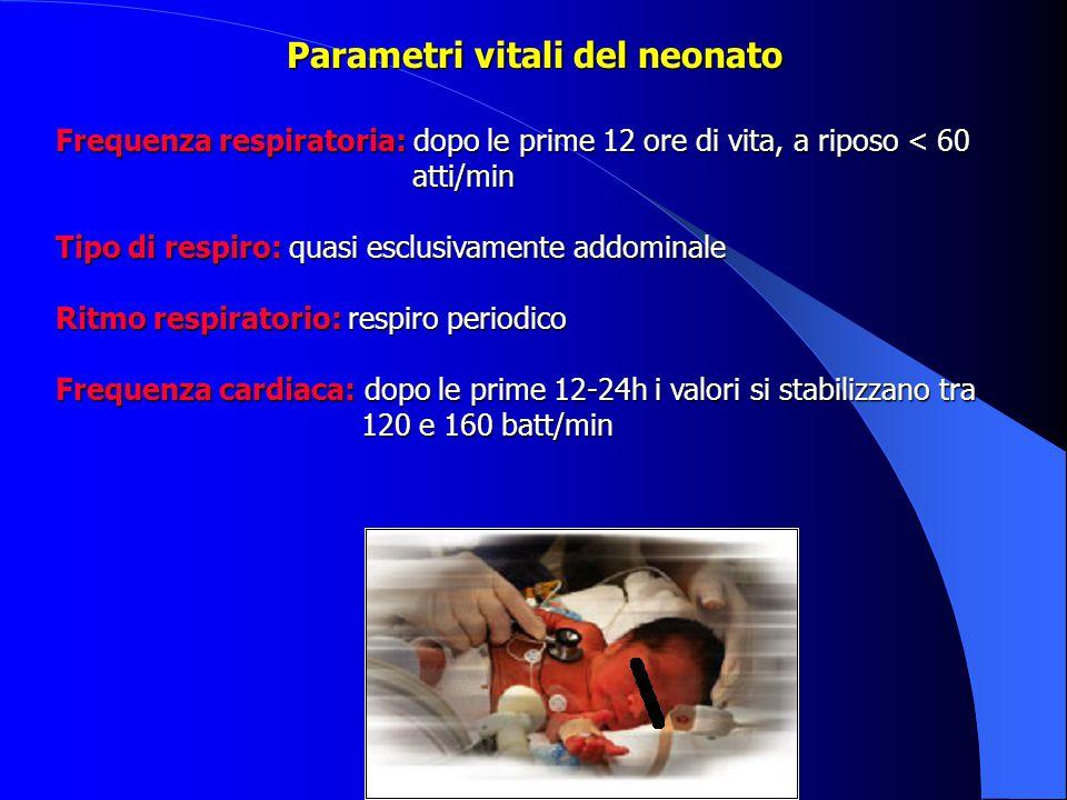 Parametri vitali del neonato