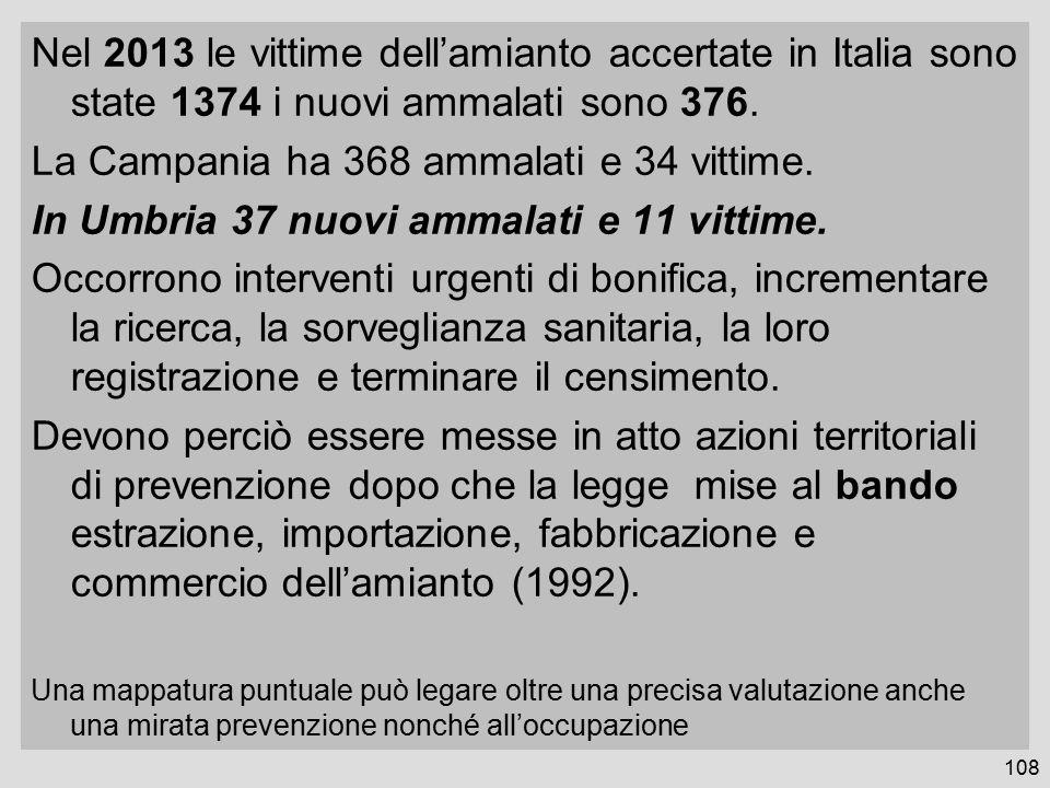 La Campania ha 368 ammalati e 34 vittime.