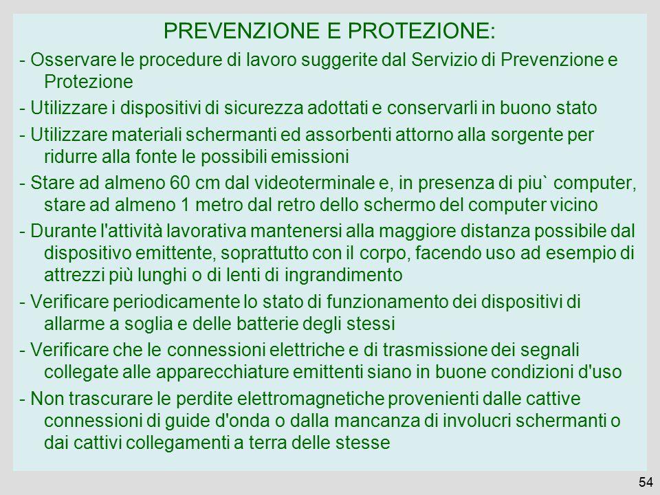 PREVENZIONE E PROTEZIONE: