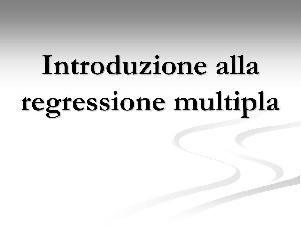 Introduzione alla regressione multipla