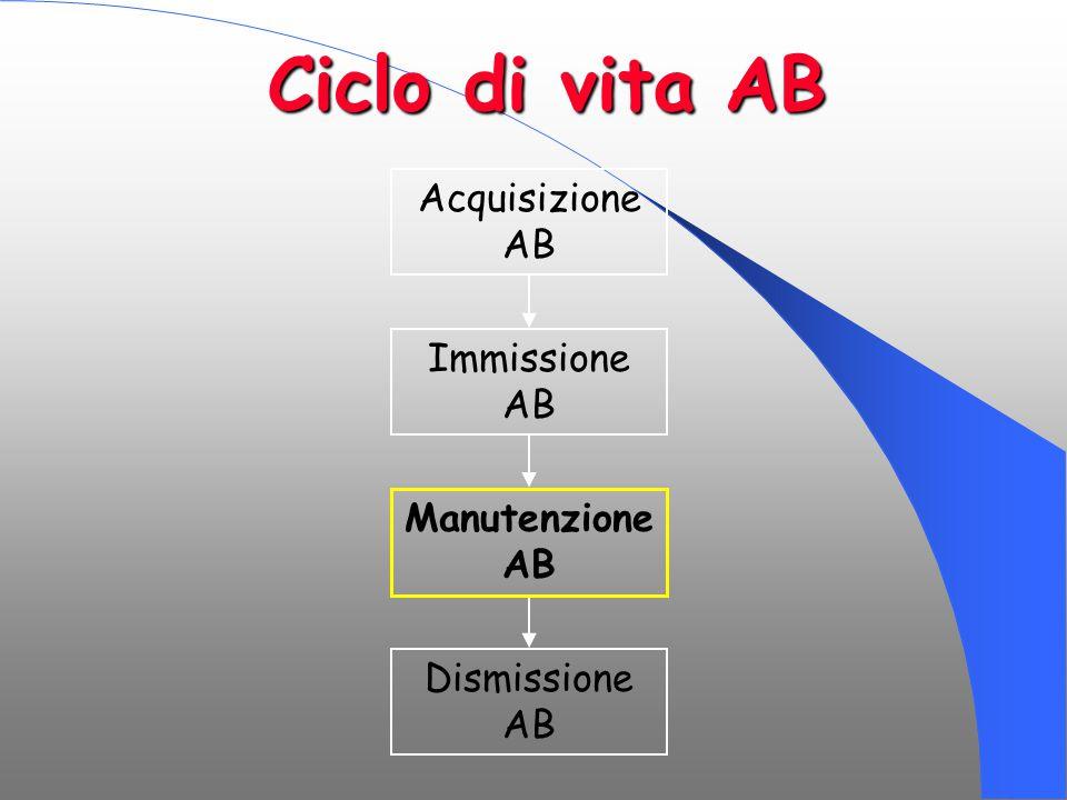 Ciclo di vita AB Acquisizione AB Immissione AB Manutenzione AB