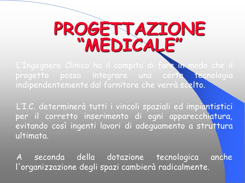 PROGETTAZIONE MEDICALE