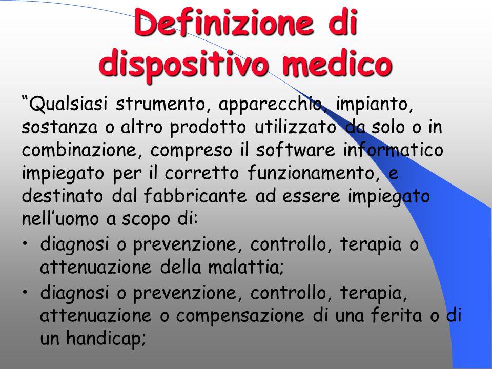 Definizione di dispositivo medico