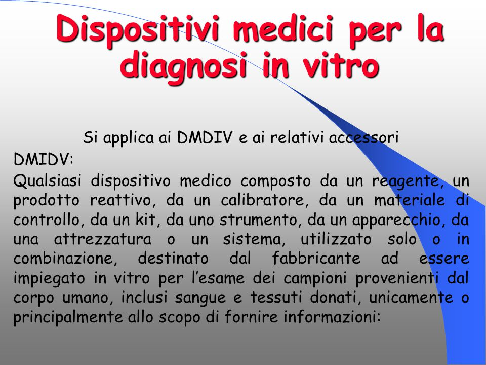 Dispositivi medici per la diagnosi in vitro