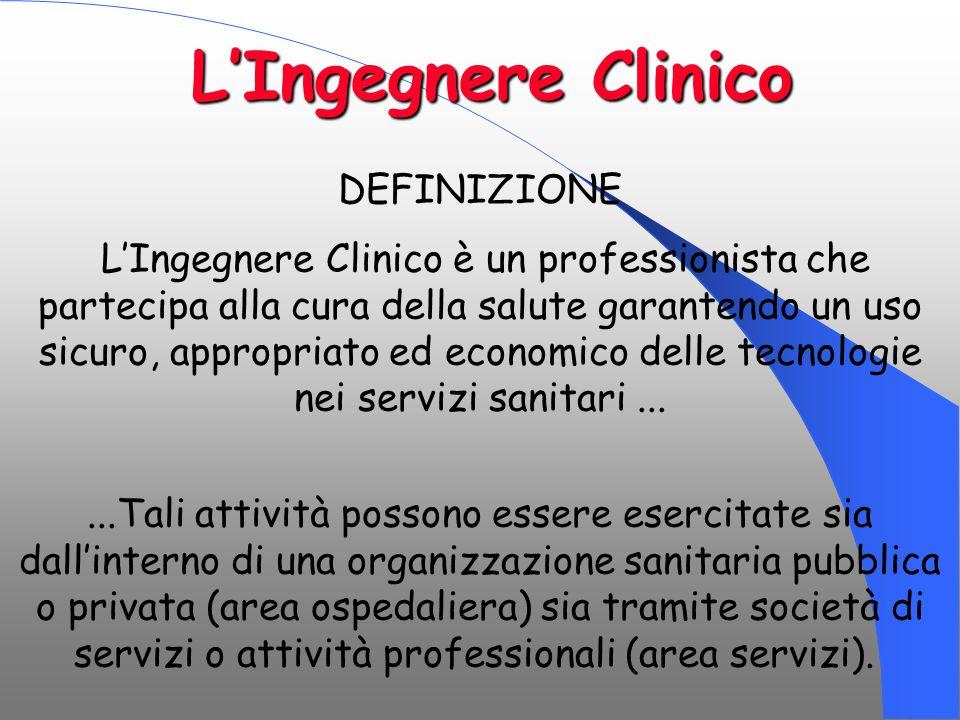 L'Ingegnere Clinico DEFINIZIONE