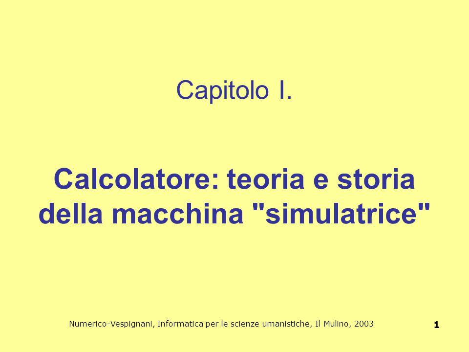 Capitolo I. Calcolatore: teoria e storia della macchina simulatrice