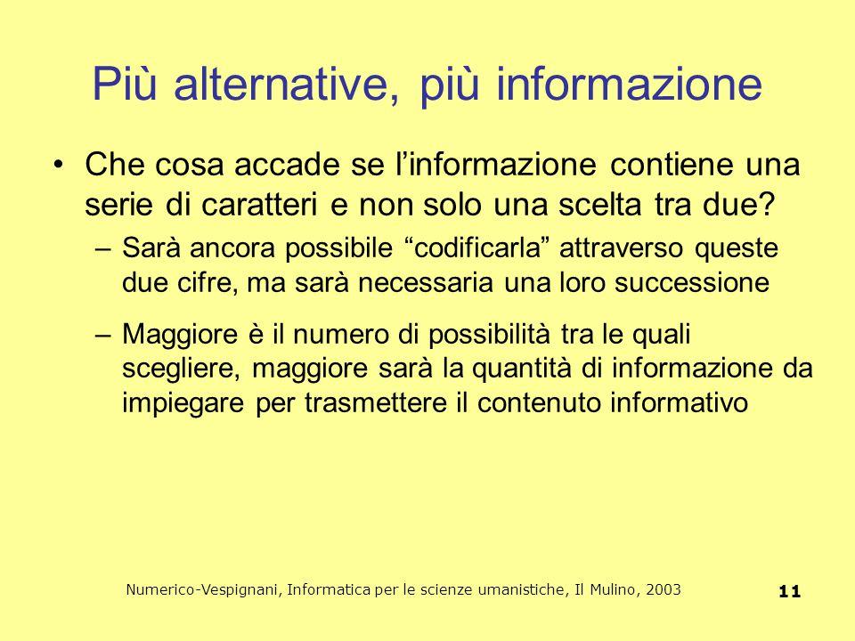 Più alternative, più informazione